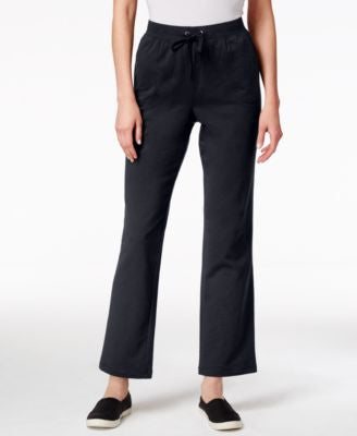 Karen Scott Petite Drawstring French Terry Pants, Only at Vogily