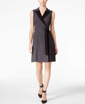Calvin Klein Colorblocked Wrap Dress