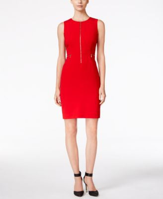 Calvin Klein Petite Zip-Front Sheath Dress
