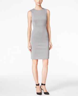Calvin Klein Sleeveless Heathered Sheath Dress