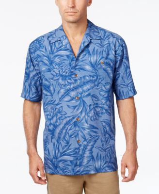Tommy Bahama Men's Cayo Palms Floral-Print Silk Short-Sleeve Shirt