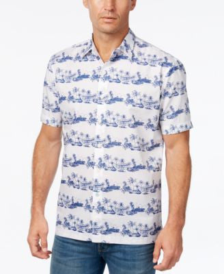 Tommy Bahama Men's Cuba Cruiser Graphic-Print Short-Sleeve Shirt