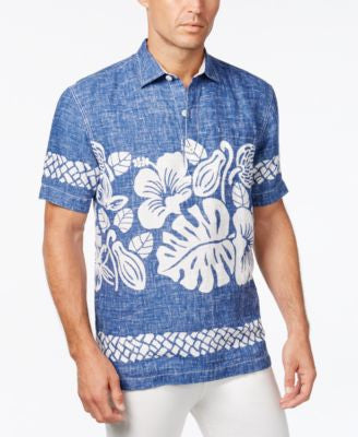 Tommy Bahama Men's Tiki Time Floral-Print Linen Short-Sleeve Shirt