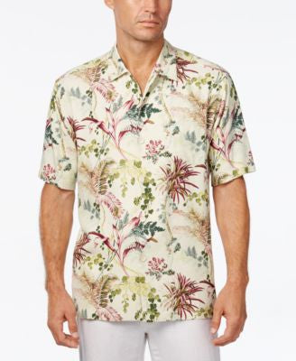 Tommy Bahama Men's Offshore Grove Floral-Print Silk Short-Sleeve Shirt