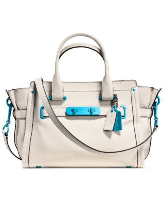 COACH Soft Swagger 27 Caryall with Carabiner Hardware in Grain Leather