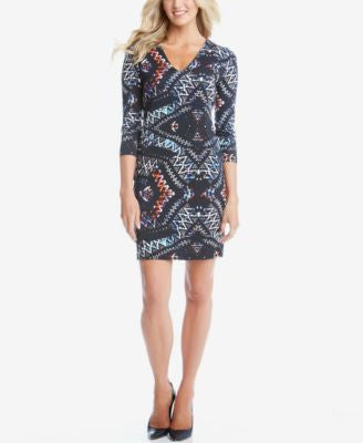 Karen Kane Mosaic-Print Sheath Dress