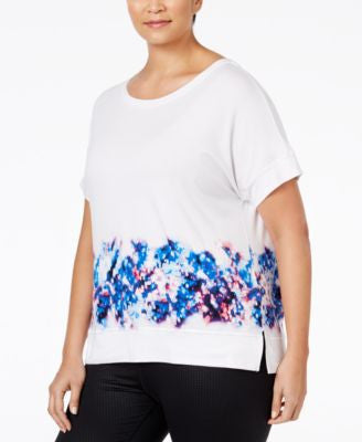Calvin Klein Performance Plus Size Printed Active T-Shirt