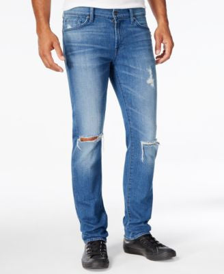 7 For All Mankind Men's California Slim-Fit Destroyed Jeans