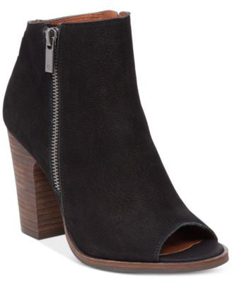 Lucky Brand Women's Lamija Peep-Toe Block-Heel Booties