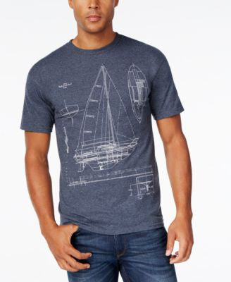 Club Room Men's Blueprint Graphic-Print T-Shirt, Only at Vogily