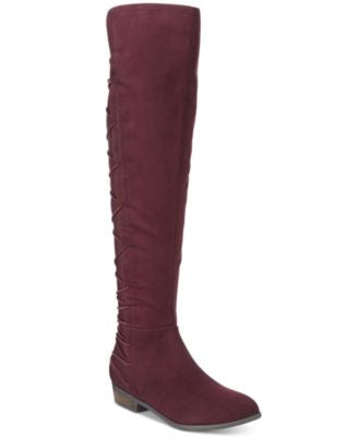 Material Girl Calyn Over-the-Knee Stretch Boots, Only at Vogily