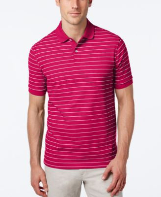 Club Room Men's Performance UV Protection Striped Polo, Only at Vogily