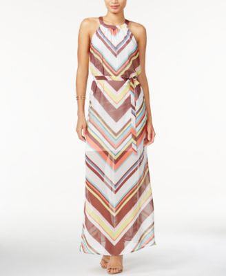 Bar III Printed Sleeveless Maxi Dress, Only at Vogily