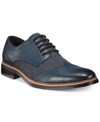 Bar III Monte Mixed Media Wing-Tip Oxfords, Only at Vogily