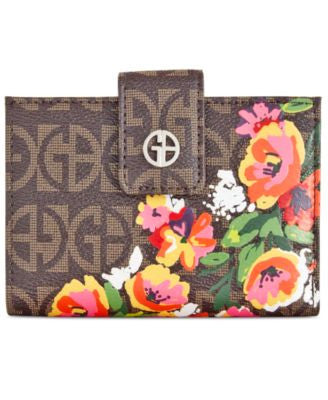 Giani Bernini Floral Block Signature Wallet, Only at Vogily
