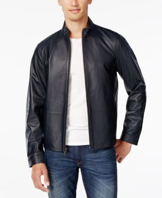 Michael Kors Men's Leather Moto Jacket
