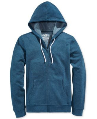 American Rag Men's Big & Tall Faux-Fleece Full-Zip Hoodie, Only at Vogily