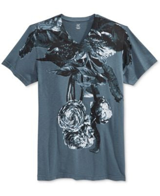 INC International Concepts Men's Plants Graphic-Print V-Neck T-Shirt, Only at Vogily