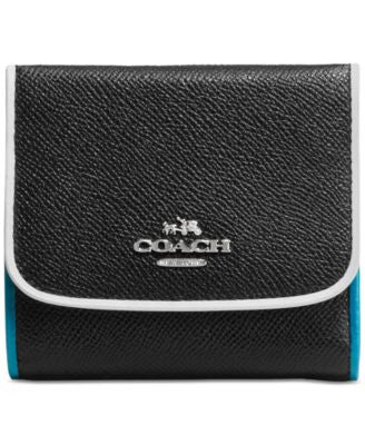 COACH Small Wallet in Tricolor Edgestain Leather