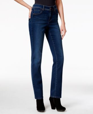 Style & Co. Tummy-Control Straight-Leg Jeans, Astor Wash