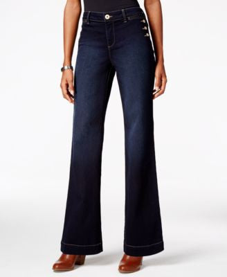 Style & Co. Petite Mariner Rinse Wash Bootcut Jeans, Only at Vogily