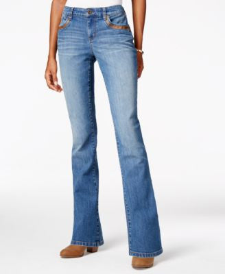 Style & Co. Petite Curvy Degraw Wash Bootcut Jeans, Only at Vogily