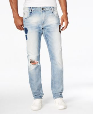 GUESS Men's Slim-Fit Tapered-Leg Jeans