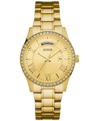 GUESS Women's Gold-Tone Stainless Steel Bracelet Watch 37mm U0764L2