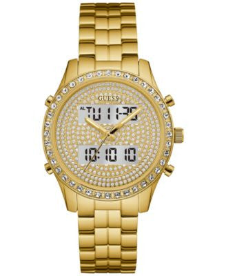GUESS Women's Analog-Digital Gold-Tone Stainless Steel Bracelet Watch 38mm U0817L2, a Vogily Exclusi