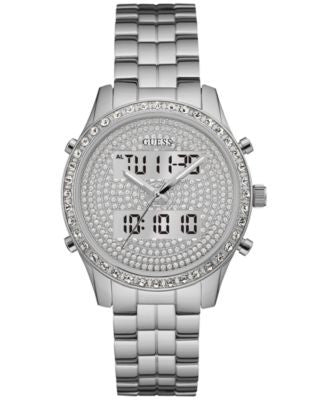 GUESS Women's Analog-Digital Stainless Steel Bracelet Watch 38mm U0817L1, a Vogily Exclusive Style