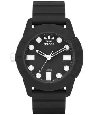 adidas Unisex Originals Black Silicone Strap Watch 44mm ADH3101