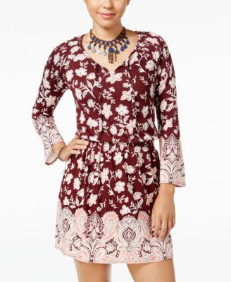 American Rag Printed Peasant Fit & Flare Dress, Only at Vogily