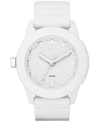 adidas Unisex Originals White Silicone Strap Watch 44mm ADH3102