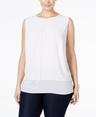 MICHAEL Michael Kors Plus Size Embellished Blouse