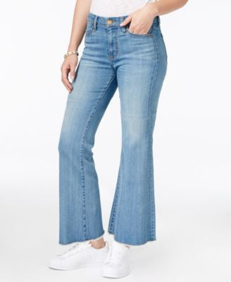 Kut from the Kloth Belle Flare-Leg Cropped Mild Wash Jeans