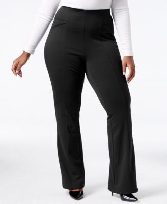 INC International Concepts Plus Size Ponte Bootcut Pants, Only at Vogily