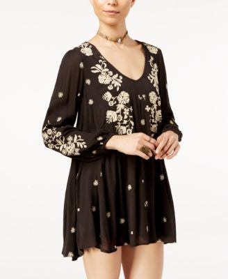 Free People Sweet Tennessee Printed Mini Shift Dress