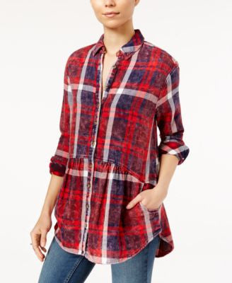 Free People Easy Street Plaid Shirt