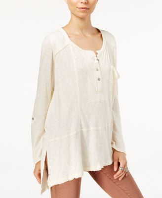 Free People Stargazer High-Low Henley Top