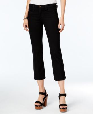 Joe's Jeans Cropped Flared Black Wash Jeans