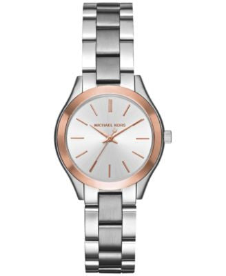 Michael Kors Women's Mini Slim Runway Stainless Steel Bracelet Watch 33mm MK3514