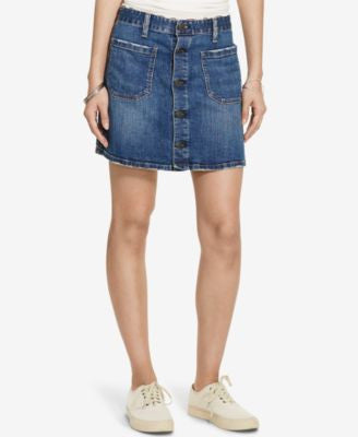 Denim & Supply Ralph Lauren Tilden Button-Front Skirt