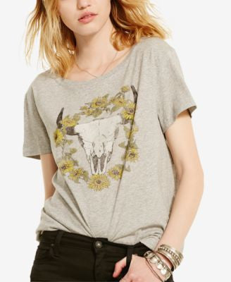 Denim & Supply Ralph Lauren Drapey Graphic-Print T-Shirt