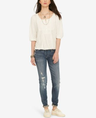 Denim & Supply Ralph Lauren Lace-Bib Jersey Top