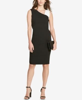 Lauren Ralph Lauren Petite Colorblocked Crepe Dress