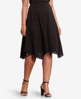 Lauren Ralph Lauren Plus Size Embroidered Skirt