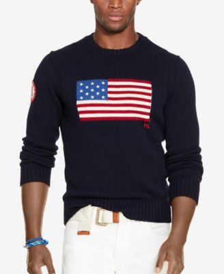 Polo Ralph Lauren Men's Team USA Flag-Graphic Sweater