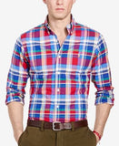 Polo Ralph Lauren Men's Long-Sleeve Slim-Fit Checked Stretch-Oxford Shirt