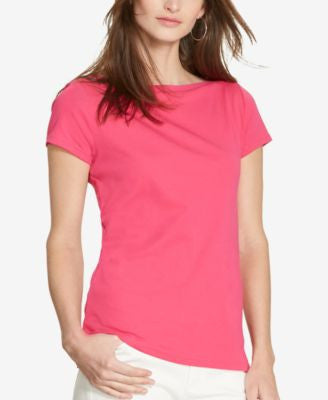 Lauren Ralph Lauren Stretch Boat-Neck T-Shirt