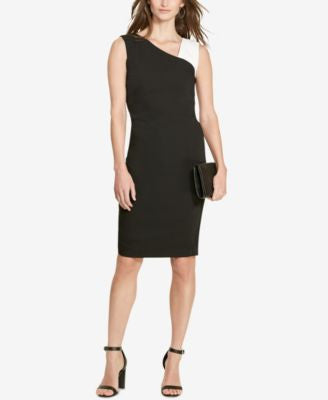 Lauren Ralph Lauren Colorblocked Crepe Dress